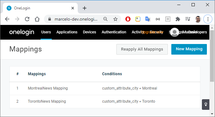 Using OneLogin API to Create and Update User Mappings